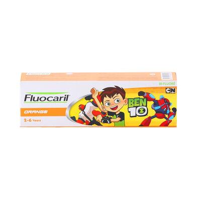 Fluocaril ฟลูโอคารีลคิดส์ ยาสีฟัน 2-6 ปี ส้ม 65กรัม