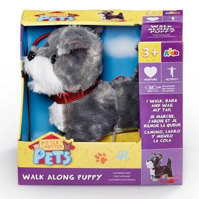 Pitter Patter Pets ตุ๊กตาน้องหมาเดินเล่น พร้อมสายจูง  (สีขาวเทาและขาว)
