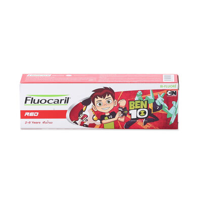 Fluocaril ฟลูโอคารีลคิดส์ ยาสีฟัน 2-6 ปี เรด 65กรัม