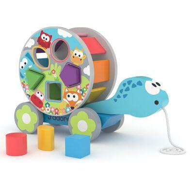 J'adore ฌาดอร์ ของเล่นไม้ เต่าลากจูงเสริมทักษะเกี่ยวกับรูปทรง