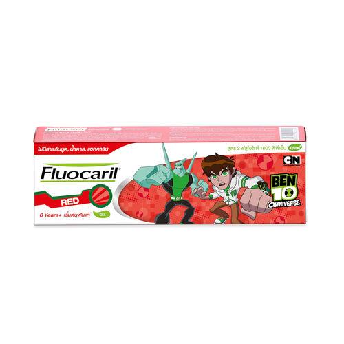 Fluocaril ฟลูโอคารีลคิดส์ ยาสีฟัน 6+ปี เรด 65กรัม