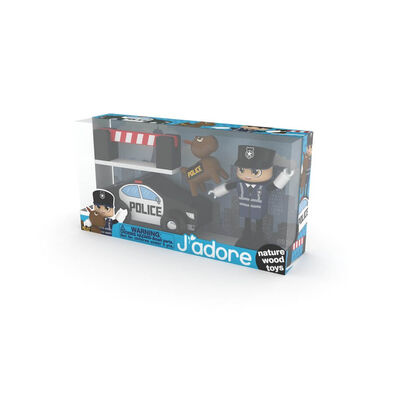J'adore ฌาดอร์ ของเล่นไม้ ชุดกิฟท์บ็อกซ์ธีมเจ้าหน้าที่ตำรวจ