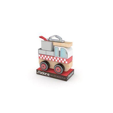 J'adore ฌาดอร์ ของเล่นไม้ ชุดต่อต่อรถดับเพลิง
