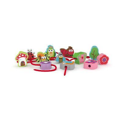 J'adore ฌาดอร์ ของเล่นไม้ผึกร้อยเชือก ชุดสัตว์เล็ก